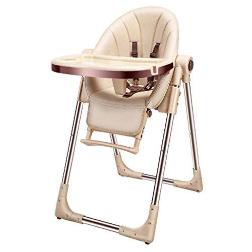 Comfortable Home Chaise Haute, Chaise de Salle à Manger Pliante pour bébé, Chaise bébé portative Pliante à Un Bouton