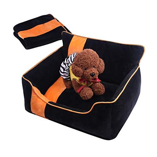 QHYY comfortabele en duurzame hondenmand PP Cotton + Crystal Velvet Pet bed voor kleine katten en honden
