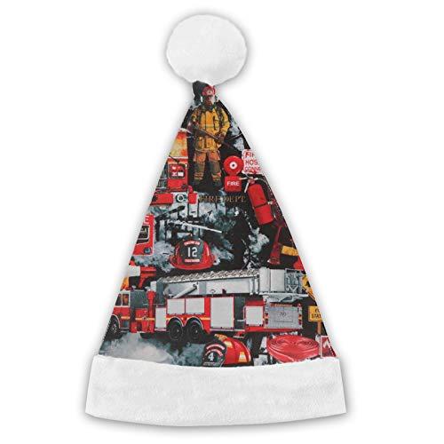TYUO Santa Sombrero de Navidad Sombreros Bomberos Bomberos Bombero de Felpa Para Navidad Ao Nuevo Fiesta Suministros Adulto/Nios