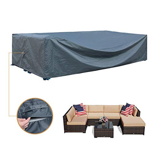 Patio Furniture Covers Sectional Waterproof Outdoor Furniture Set Covers Large Loveseat Covers Waterproof Heavy Duty 126' L x 64' W x 29' H