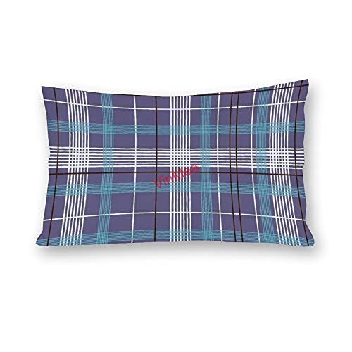 VinMea Fundas de almohada lumbar, de algodón, para sofá, hogar, oficina, 40,6 x 60,6 cm