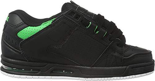 GLOBE Sabre, Zapatillas de Skateboarding para Hombre, Negro (Black/Moto Green), 44.5 EU