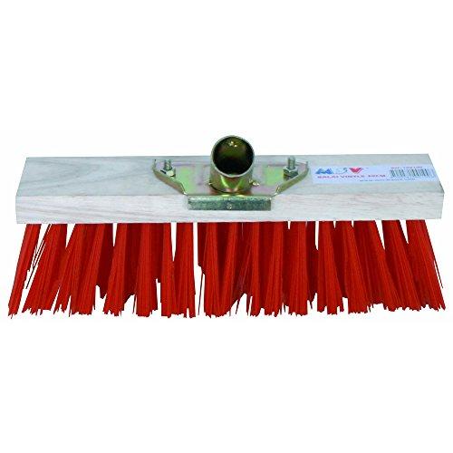 MSV 100100 Balai cantonnier 31 cm, Plastique, Marron, 31x6x9,2 cm