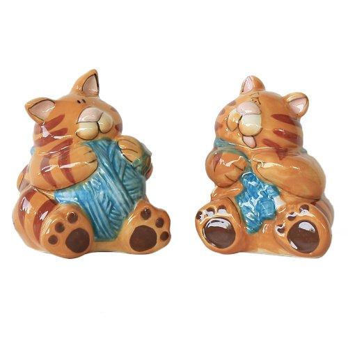 Salzstreuer und Pfefferstreuer Katze dick Tiere
