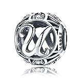 lettera u charms pandora bead charm in argento bracelet-925ciondoli per bracciale e collana
