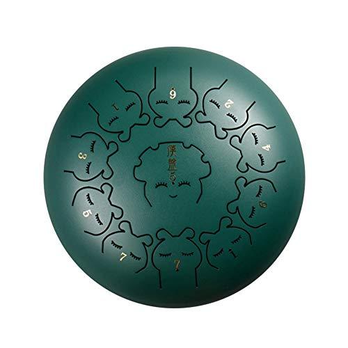 FORYOURS TS-ideen - Tambor de Lengua de Acero para meditación, Yoga, Terapia Musical, Camping