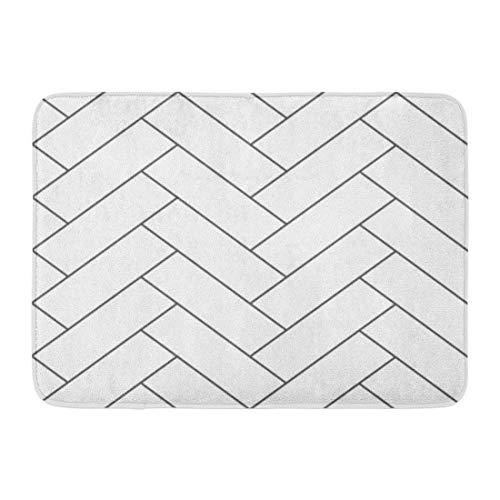 Yilan Badematte Schreibtisch Whiteboard Umriss Vintage Holzboden Fischgrät Parkett Parkett Design Kreative Diagonale Badezimmer Dekor Teppich