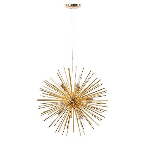 Kroonluchter, Modern kroonluchter plafond licht, semi inbouw plafond lichtpunt Pendant Lamp for Dining Room Bathroom Bedroom Livingroom, Gold
