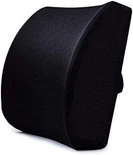Car Memory Foam Cotton Lumbar Support Back Cushion, Lower Back Pain Relief Back Pillow for Computer/Office Chair, Car seat...
