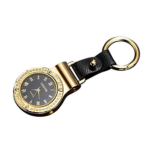 Ruidada multifunctional Keychain Lighter with men's watch and LED emergency lighting charged by USB, Outdoor Portable Match Lighter, Reusable Lighter - Survival Kit, Emergency Survival Equipmen