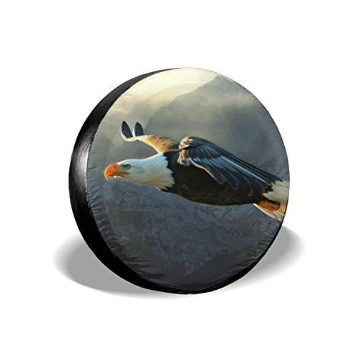Hokdny Cubierta del Neumático De Repuesto Cubierta De La Rueda del Neumático Cubiertas De Rueda Universales Impermeables, Bird Eagle Fit 14 15 16 17 Pulgadas