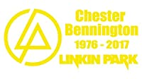 【全16色】人気!リンキン・パーク/Linkin Park/チェスター・ベニントン/Chester Bennington/Linkin Park RIP Chester car sticker-1/サイン/カー ステッカー/Car/車用/シール/ Vinyl/Decal /バイナル/デカール (黄色) [並行輸入品]