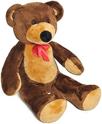 105cm Large Giant Big Teddy Bear Soft Plush Toys Gift (colour  braun)