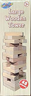Lollipop Toys Timber Tower Wood Block Stacking Game – Original Edition (48 Pieces)