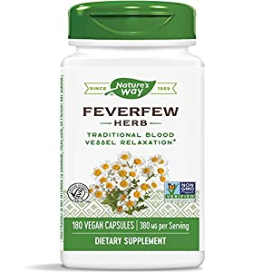 SUPPORTS BLOOD VESSEL TONE: Feverfew (Tanacetum parthenium) has been traditionally used to support healthy blood vessel tone* SUPERIOR QUALITY STANDARDS: Our Feverfew is carefully tested and produced to superior quality standards AUTHENTIC TRU-ID CER...