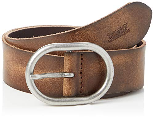 Levi's Circle Buckle Core, Cinturón Mujer, Marrón (Brown), 85 cm (Talla del fabricante: 85)