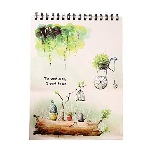 Haorw Cuaderno de bocetos, Cuaderno de bocetos de Acuarela, Bloc de Notas, Dibujo, Cuaderno de Dibujo, Pintura, Dibujo, Suministros de Artista, Cuaderno de Dibujo de Pintura 6#