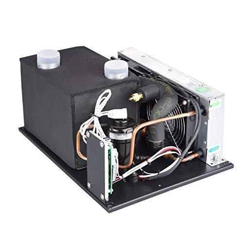 yaohuishanghang Tragbare Klimaanlagen 12V Compact Kühlsysteme mit Miniatur-Dreh Kompressor - for Elektrofahrzeug-Chiller Wasserspender Gefrierschrank Elektronik Kühlmodul DIY (12V, 1.9cc) Kompressor