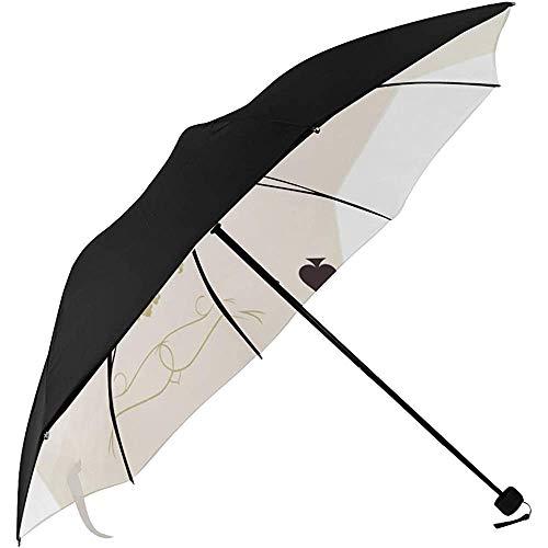 Regenschirme kompakt Das Skelett von Spaten Trump im Poker Unterseite Druck Tragetaschen Regenschirme für Männer Reiseschirme Kompakt Faltschirm