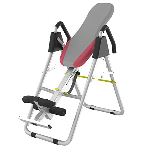 Best Prices! HMAMERÂ Fitness Therapy Inversion Table with Headrest & Adjustable Height Folding Stre...