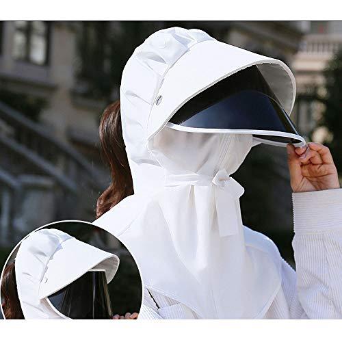 UV Sunscreen Hat Glazen sjaal Helm voor Outdoor Activities stofdichte dop winddicht Hat