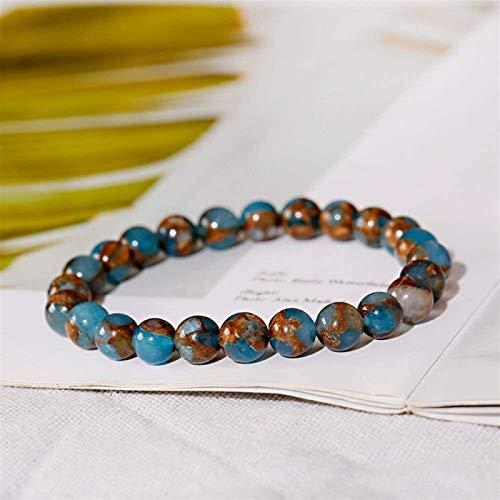 Pulsera de piedra Mujer, 7 chakra perlas de piedra natural azul semiprecioso brazalete joyería de joyería yoga equilibrio de la energía de la prenda de la protección del encanto del difusor de las muj