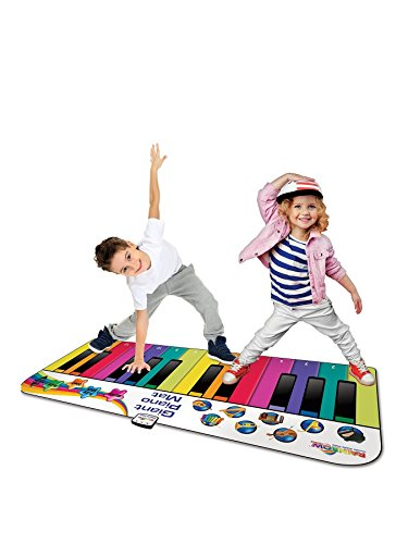 RAINBOW COLOURS Fun Giant Piano Matte für Kinder