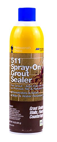 Miracle Sealants GRTSLRAEROCS Grout Aerosol Spray Penetrating Sealers, 15 oz