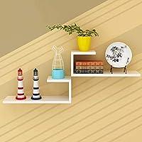 ウォールシェルフ ウォールラック ウォールシェルフフローティングシェルフU字型装飾、ホワイトフローティングウォールマウントシェルフ、2セットディスプレイ棚棚ワイドパネル寝室用オフィスキッチンリビングルーム (色 : C)