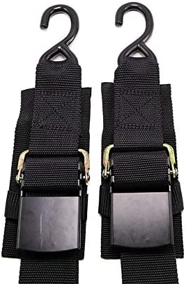 Meili 2 Piece Boat Winch Strap Adjustable Boat Tie Down Straps to Trailer with Quick Release product image