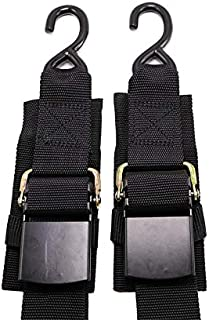 Meili Width 2 inch Length 4 Feet Transom Retractable Ratchet Tie Down Straps with Quick Release Buckle for Boat Trailer, Package of 2