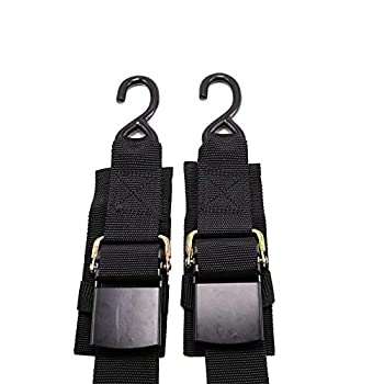 Meili 2 Piece Boat Winch Strap Adjustable Boat Tie Down Straps  Shipped from USA  to Trailer with Quick Release Buckle Width 2 inch Length 4 Feet 1200 LBS Capacity