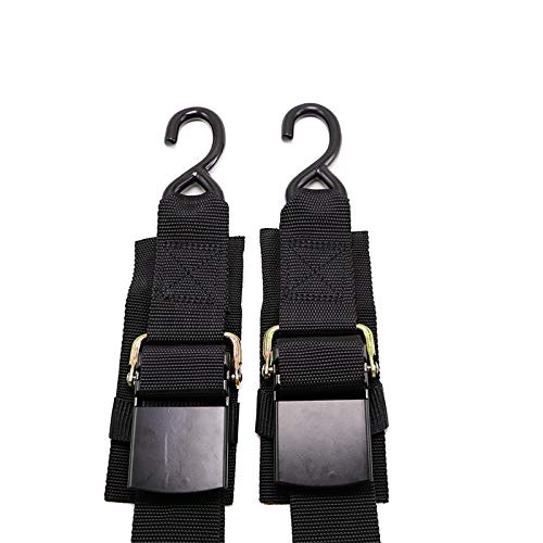 Meili 2 Piece Boat Winch Strap Adjustable Boat Tie Down Straps to Trailer with Quick Release Buckle, Width 2 inch Length 4 Feet 1200 LBS Capacity
