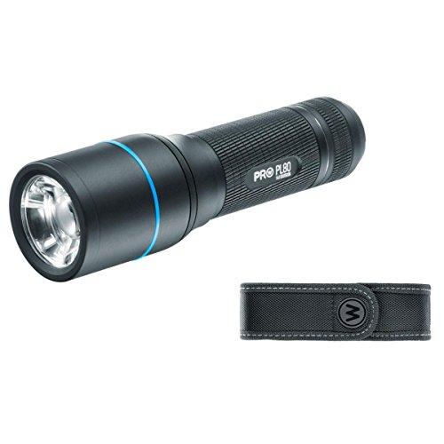 WALTHER PRO Taschenlampe PL80 LED 650 Lumen inkl. Batterien