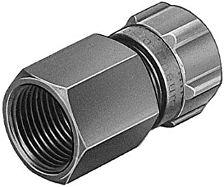 Parker FCMI731-4-0-pk5 Flow Control Regulator 1//4 and 10-32 NPT Tube to Pipe Push-to-Connect and UNF Miniature Right Angle 1//4 and 10-32 NPT Composite Pack of 5