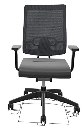 Sedus Black Dot bd-122 Schreibtischstuhl mit Netzrücken (Grau)