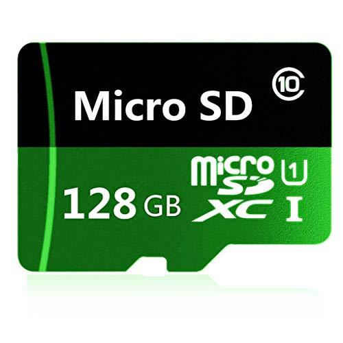 Geneircc Speicherkarte, 128 GB / 512 GB / 1024 GB, Micro-SD- / SDXC-Karte, Hochgeschwindigkeitsklasse 10, mit kostenlosem Adapter 128 GB