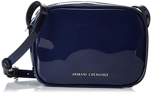 Armani Exchange - Small Crossbody Bag, Bolsos bandolera Mujer, Negro (Black), 14x7.5x19...