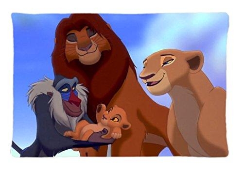 Hoogwaardig geschenkkussensloop ~ Simba Leeuw Koning ~ Afbeelding (één kant) Aangepaste kussensloop van 30 x 20 inch