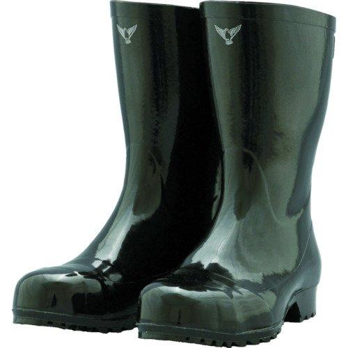 シバタ工業 安全軽半長靴 AK010 ブラック 23.0cm