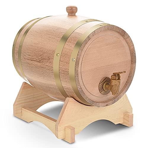 Beczka dębowa Drewniana beczka 5L, Dozownik wina Beczka na wino do przechowywania Piwo Spirytusowe Whisky Rum Port Bourbon Tequila Likier