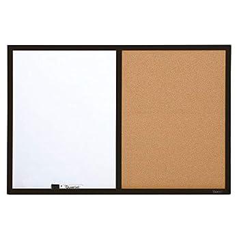 Quartet Combination Whiteboard & Corkboard 2  x 3  Combo White Board & Cork Board Black Frame  95223B
