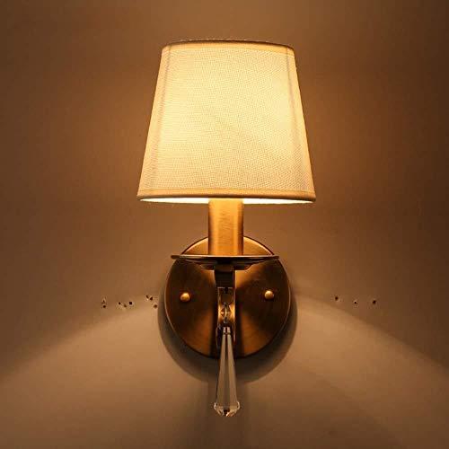 lámpara de pared Pared de brillante luz de la lámpara de pared cuerda del cáñamo Pantalla metal lámpara de cabecera de iluminación Lámparas Europea de la sala dormitorio del pasillo del pasillo 2-5 Me