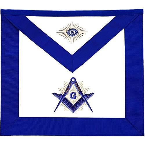 Masonic Master Mason Blue Lodge Apron with Radiant G-Lambskin
