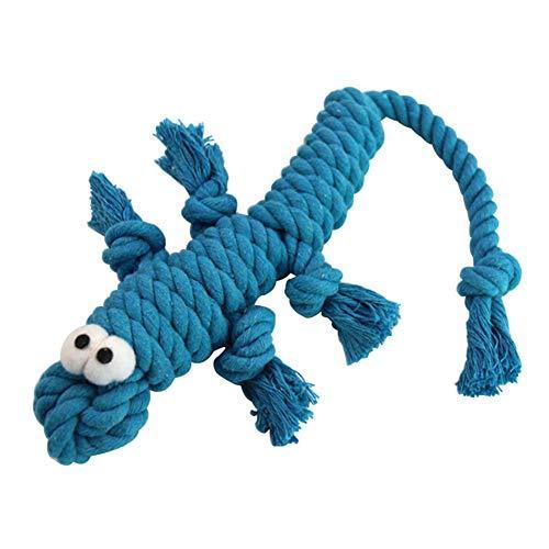 Kalaokei Kauspielzeug für Hunde und Welpen, niedliches Baumwollseil, Krokodil-Design, beißfest