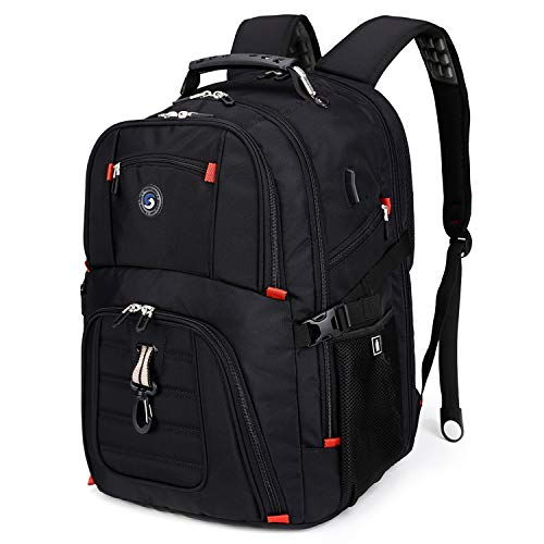 Durable 50L Travel Laptop Backpack with USB Charging Port fit 17 Inch Laptops