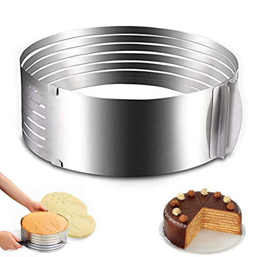 Ideal Swan Tortenschneider Ring Cutter Cake Slicer Cake Ring Kuchen Tortenboden Schneidhilfe Küchen Edelstahl für Ø 23 und Ø 30 cm