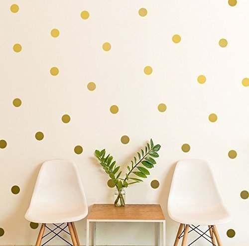 A Polka In The Room Polka Dot Wall Decal Gift Gold Polka Dot Decal 2 5 Dot Sticker Kids Wall Decoration Baby Room Decal Removable Wall Paper Handmade