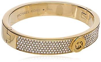 Michael Kors Women s Gold Tone Pave Fulton Hinge Bangle Bracelet Model MKJ3998710