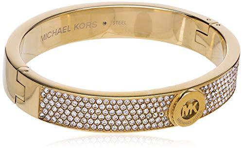 Michael Kors Fulton - Brazalete con bisagra, Metal, Pavé de Oro, talla única
